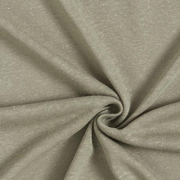 Jersey mélange lin-viscose uni – kaki