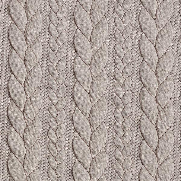 Jersey jacquard Cloqué Torsades – beige