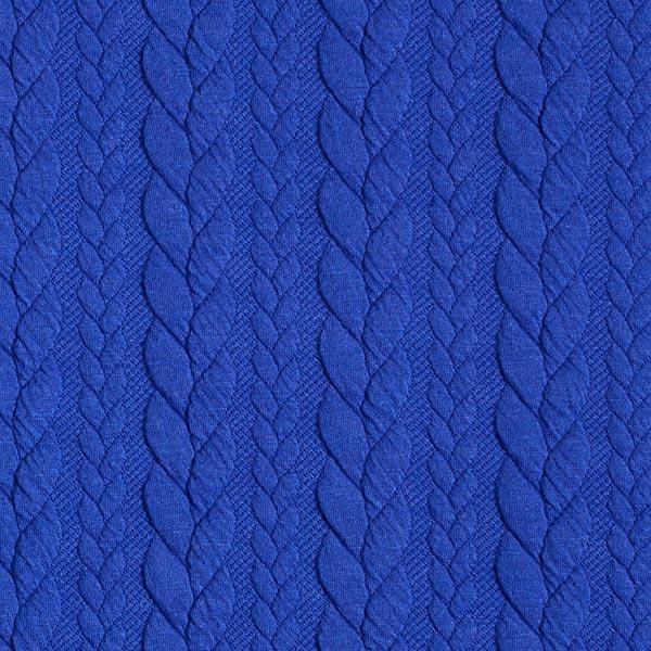 Jersey jacquard Cloqué Torsades – bleu roi
