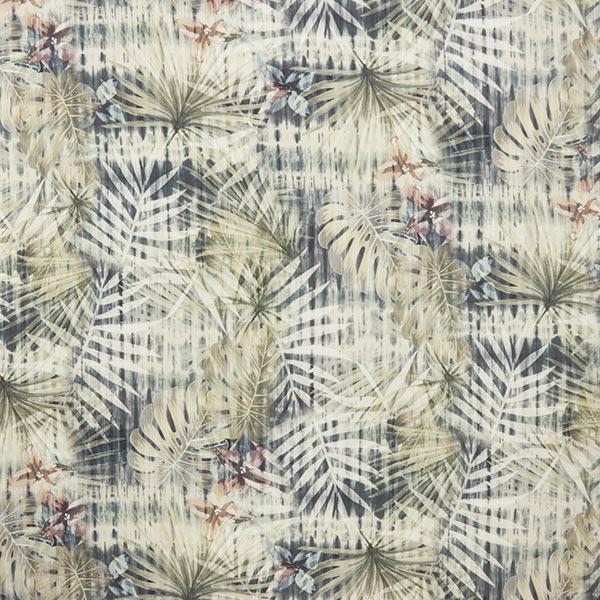 Tissu pour chemisier mélange lin-viscose jungle – kaki