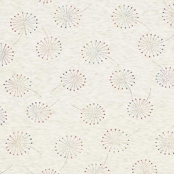 Alpenfleece Glitzer-Pusteblumen – wollweiss