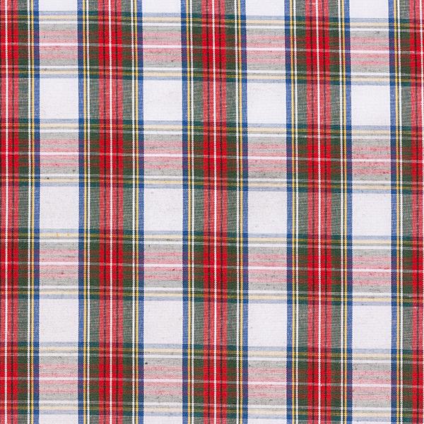 Tissu de chemisier Carreaux écossais – blanc