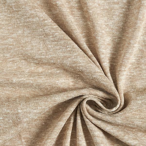 Jersey Mélange coton Chiné – beige