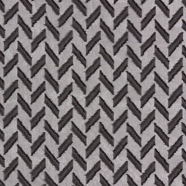 Chiffon Dobby Zigzag – noir