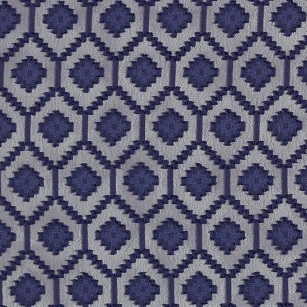 Chiffon Dobby Motif losanges – bleu marine