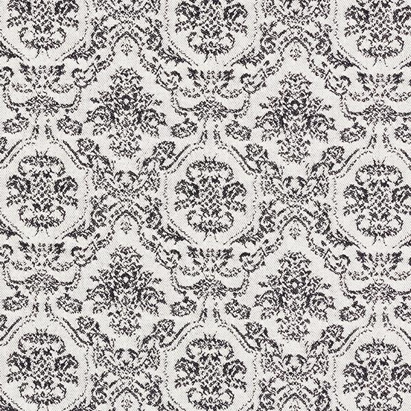 Jacquard stretch Ornements nobles – écru/noir