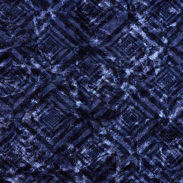 Panne de velours Losanges – bleu