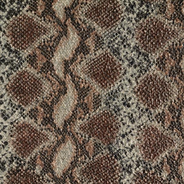 Tissu pour manteau grossier Imprimé métallisé Phyton – bronze