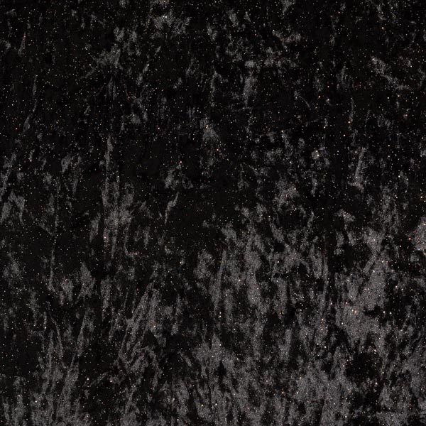 Panne de velours Mouchetures scintillantes – noir