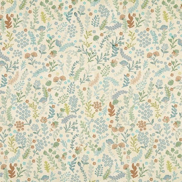 Tissu de décoration et d'ameublement Mystic – écru/vert pastel