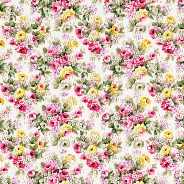 Popeline Broderie à trous Mille-fleurs – blanc