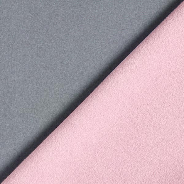 Softshell Doubleface – grau/rosa