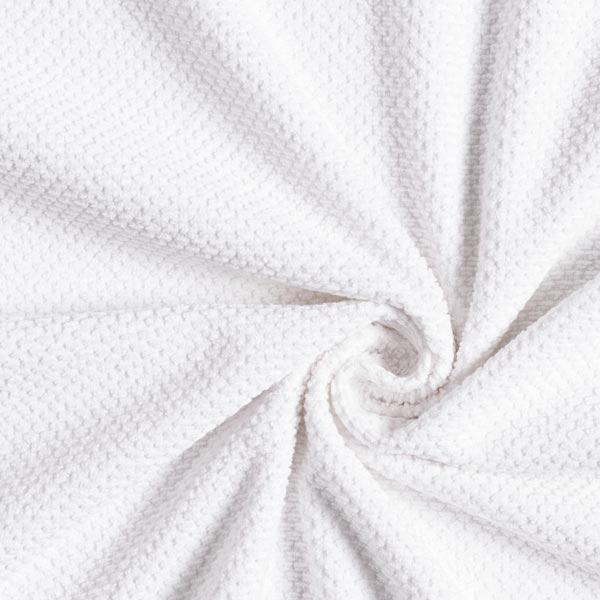 Tissu éponge structuré douillet – blanc