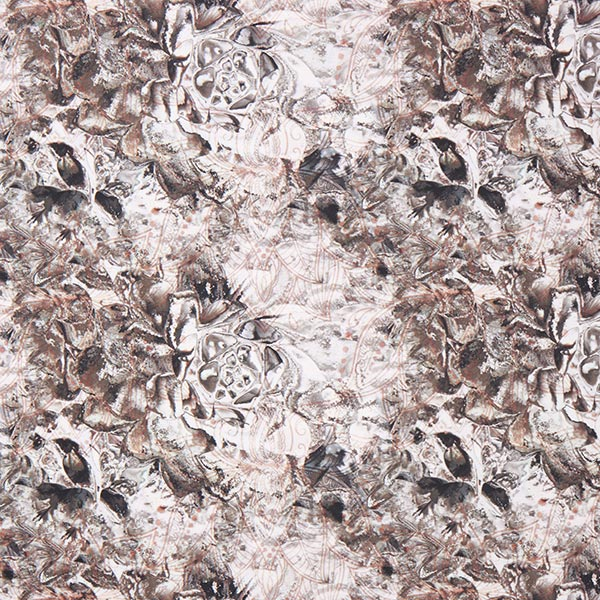 Tissu sport bi-stretch fleur de lotus – gris clair
