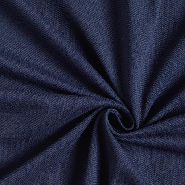 Jersey coton Piqué fin – bleu marine
