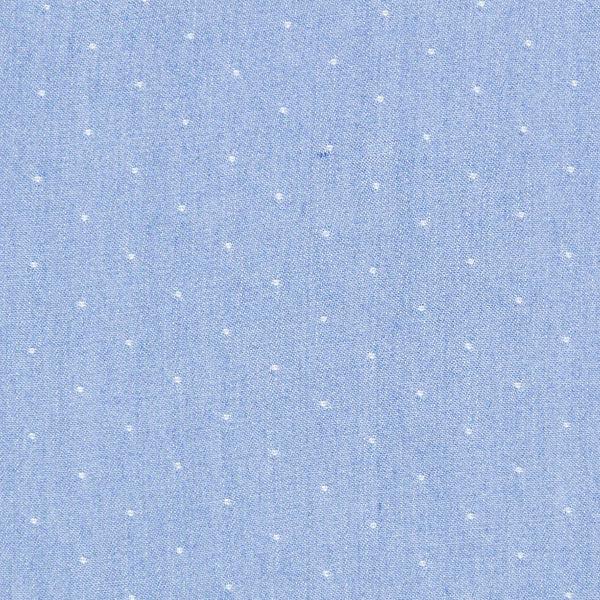 Chambray Jeanslook Punkte – babyblau
