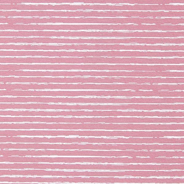 Baumwolljersey Skribbel-Streifen – altrosa