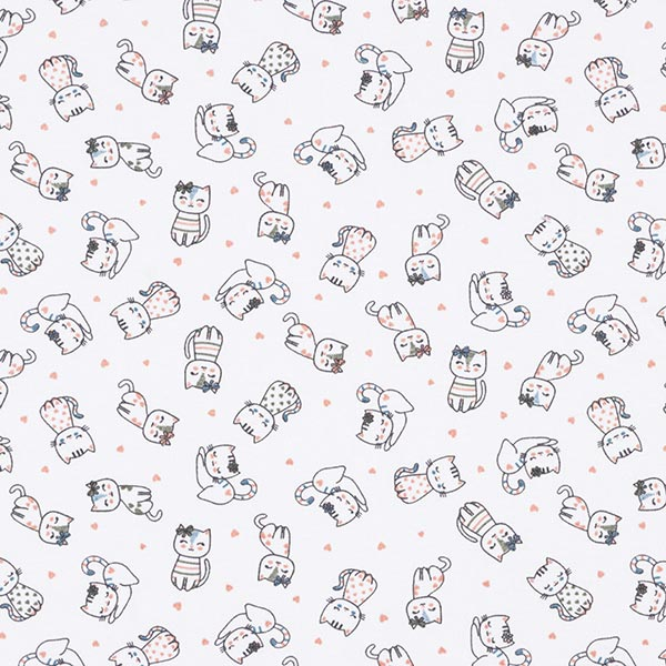 Jersey coton Chats – écru