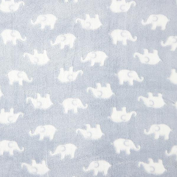 Polaire bien-être Bébés éléphants – bleu bébé