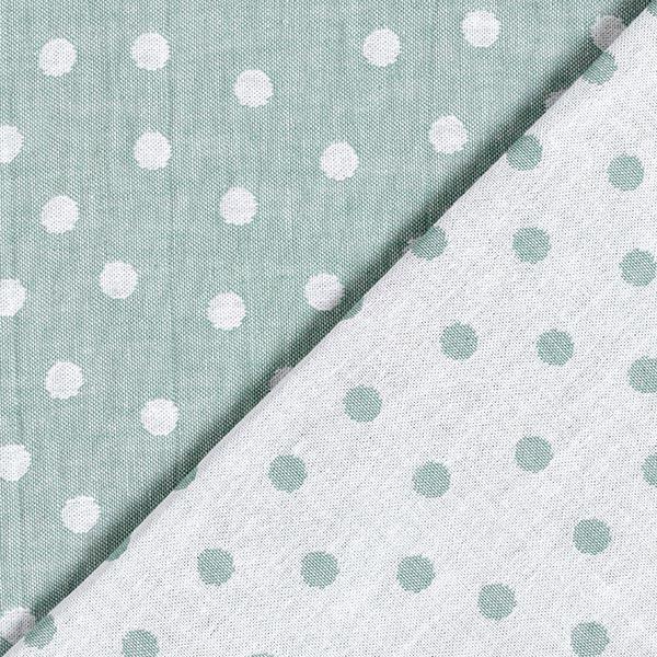 Double face Jacquard Tissu coton Points – roseau/blanc