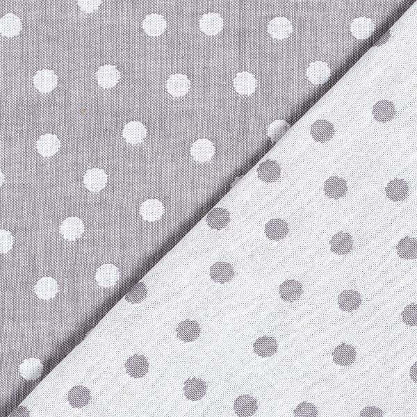 Double face Jacquard Tissu coton Points – gris/blanc