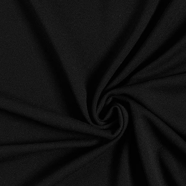 Leichter Crêpe-Scuba – schwarz