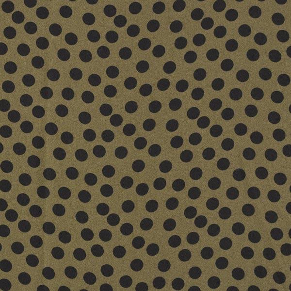 Crêpe Georgette Punkte – dunkeloliv/schwarz