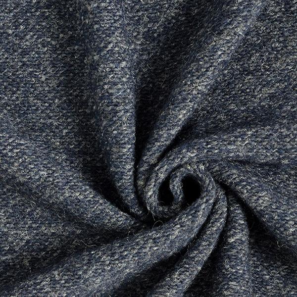 Grobstrick Wollmix – marineblau