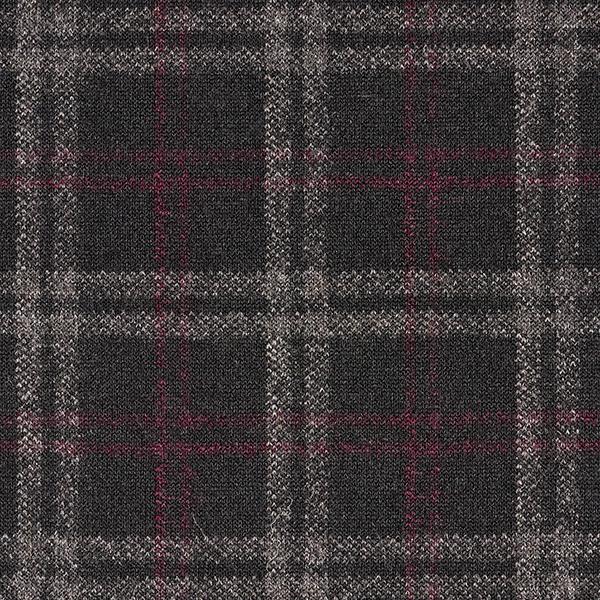 Tissu maille Carreaux – noir