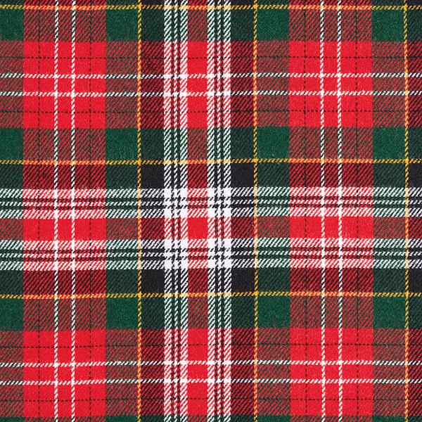 Laine mélangée Carreaux écossais – rouge