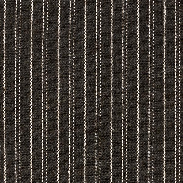 Laine mélangée Rayures fines – marron foncé