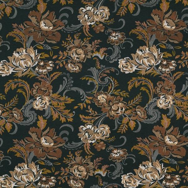 Viskosejersey florales Paisley-Muster – schwarz