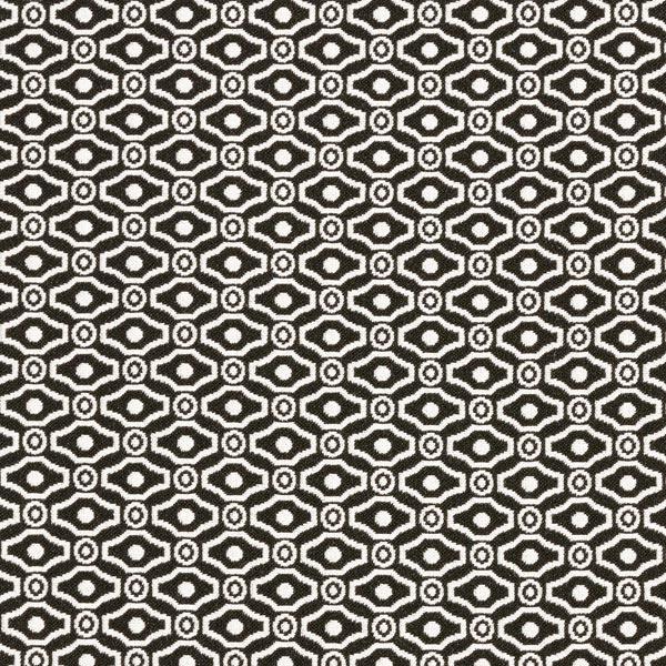 Jacquard d'habillement élastique sur la longueur Losanges et cercles – noir/écru