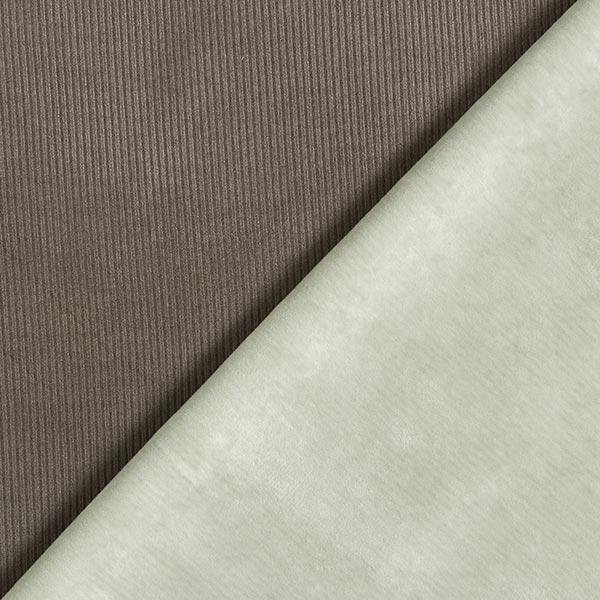 Doubleface Rippenjersey & Kunstfell – khaki/mintgrün