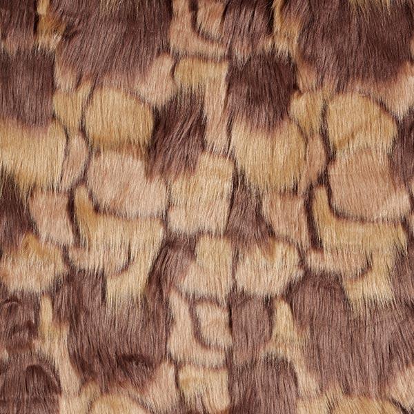 Fourrure synthétique Patchwork – marron clair/marron