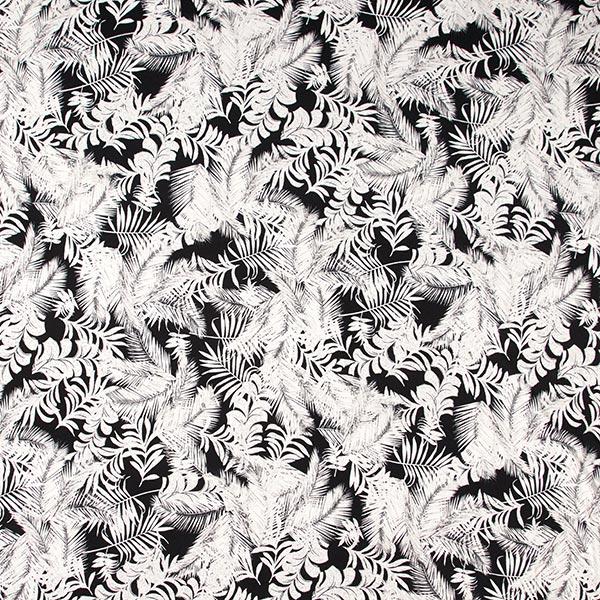 Jersey viscose feuilles de palmier – gris