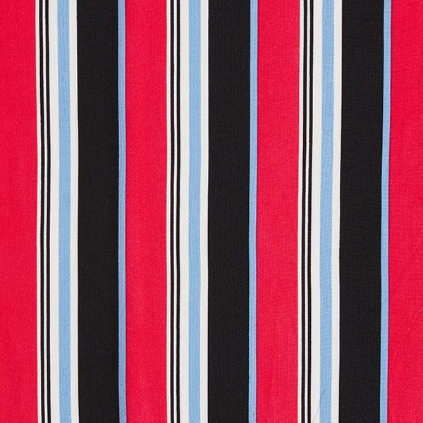 Tissu de chemisier viscose rayures – rouge