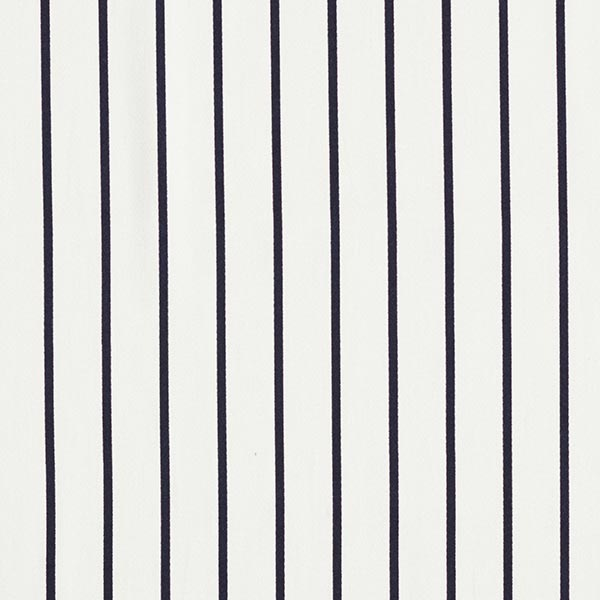 Tissu de pantalon coton stretch rayures – blanc/bleu marine