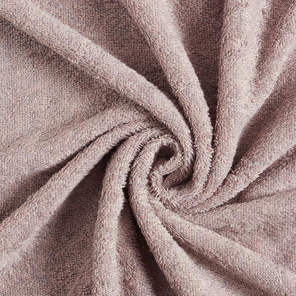 Tissu éponge doux uni – vieux rose