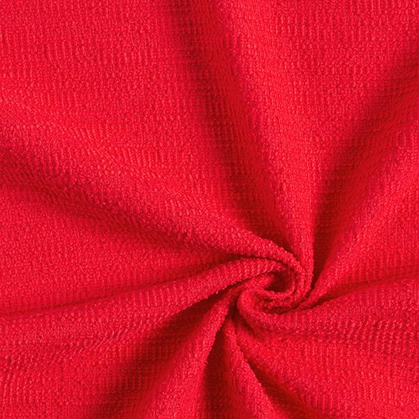 Maille coton bouclé – carmin