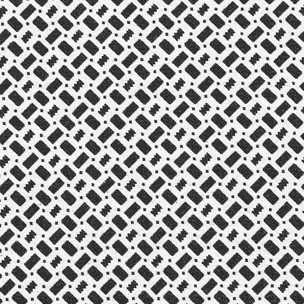Jacquard d'habillement élastique en longueur Carrés – noir/blanc