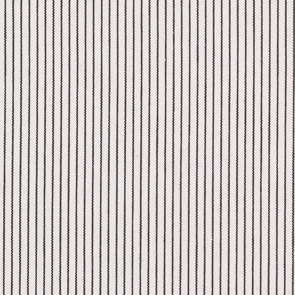 Sergé Tissu de coton mélangé Rayures verticales – écru/noir