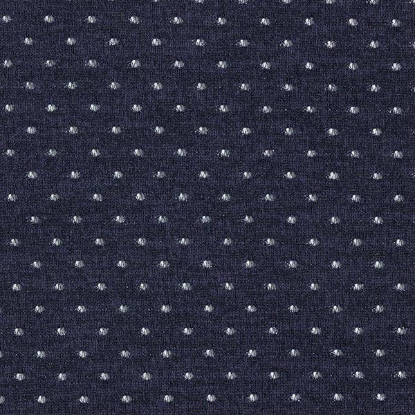 Tissu maille Motif ajouré à paillettes – navy