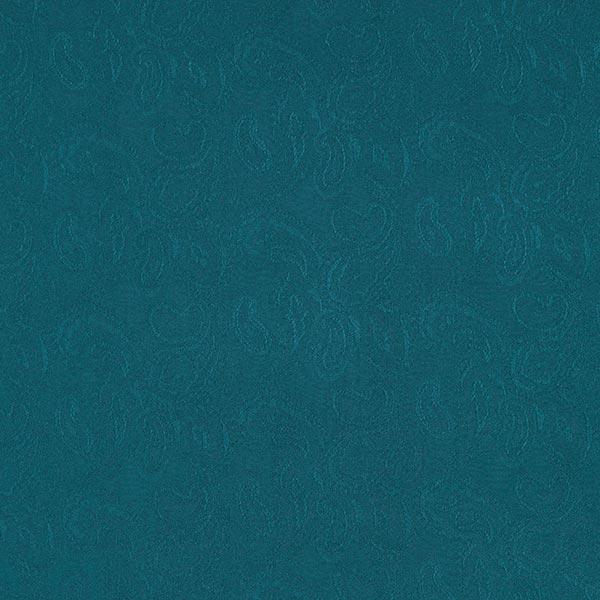Tissu de chemisier Viscose Jacquard Paisley – pétrole