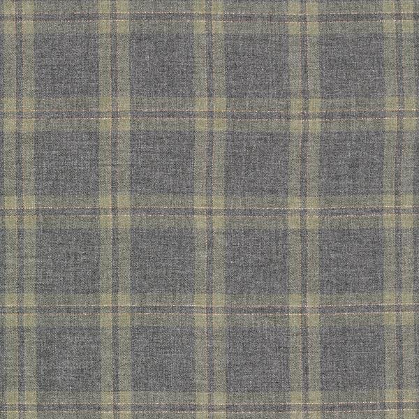 Tissu de chemisier viscose double carreau lurex – olive/gris
