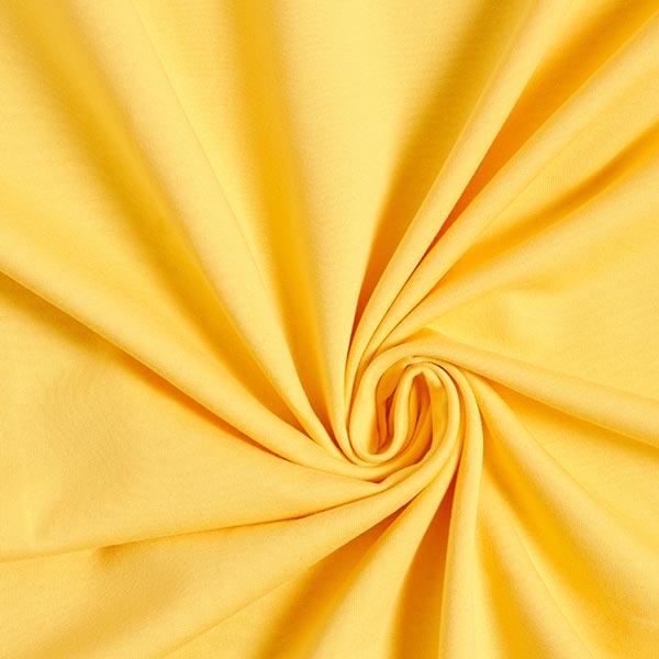Jersey de coton gratté Uni – jaune