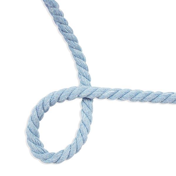 Cordelette en coton [ Ø 8 mm ] – bleu clair