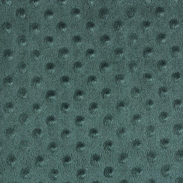 Kuschelfleece geprägte Punkte – dunkelgrün