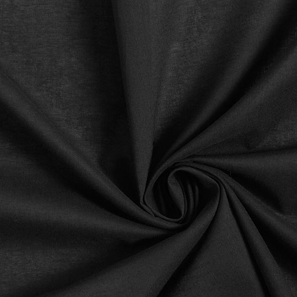 Batiste de coton Uni – noir