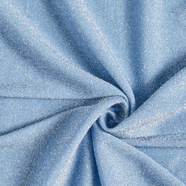 Jersey scintillement Lametta Glamour – bleu clair